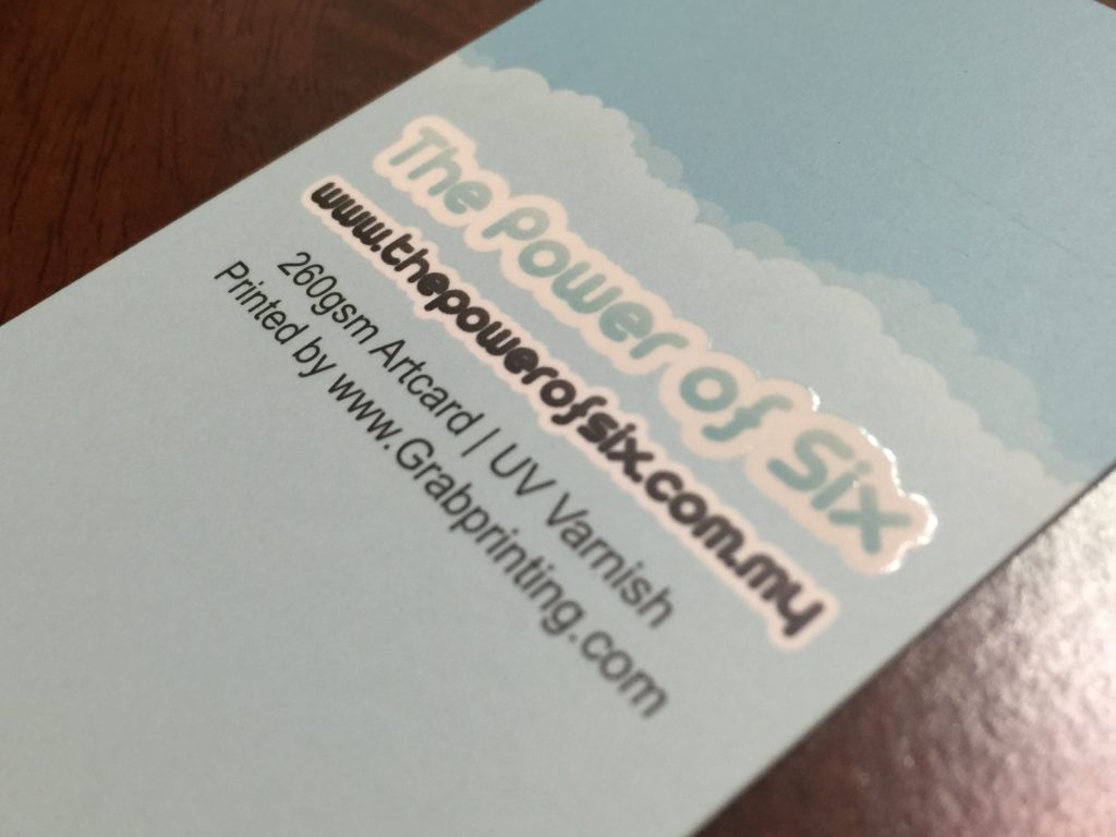 260gsm name card with matt lamination and 1 side spot UV spot uv Spot UV Business Card IMG 5033 1024x768