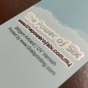 260gsm name card with matt lamination and 1 side spot UV