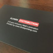310gsm name card with matt lamination