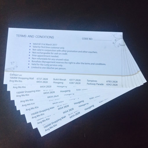 Voucher printing with no serial number