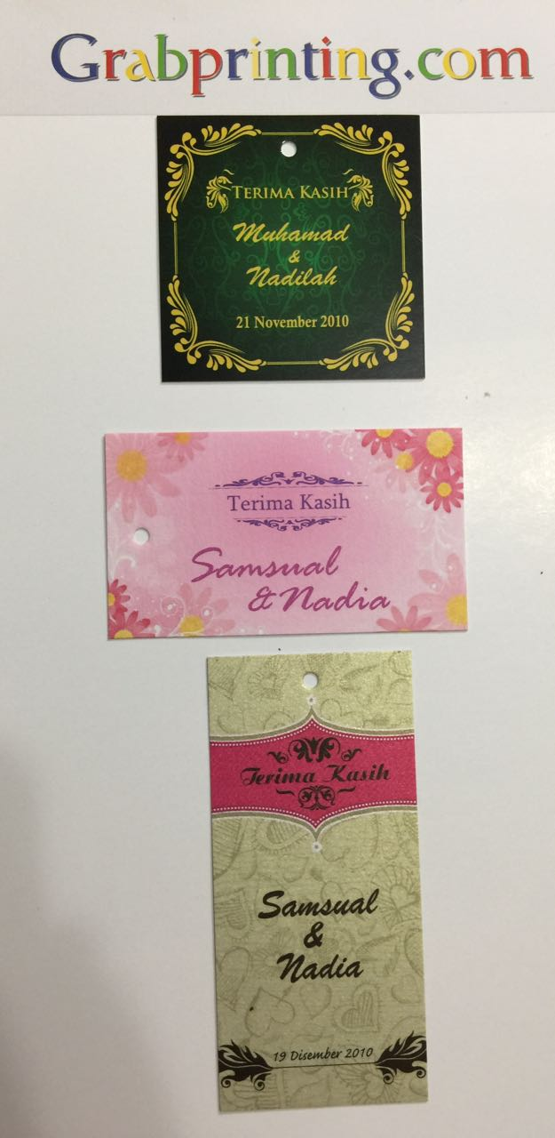 Tag Terima Kasih Printing In Singapore By Grabprinting Com