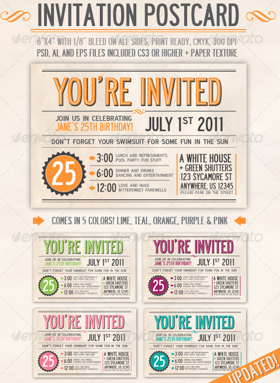 Invitation Card Printing Design Template 6 Amazing Invitation Card Printing Design Template fun invitation card printing design