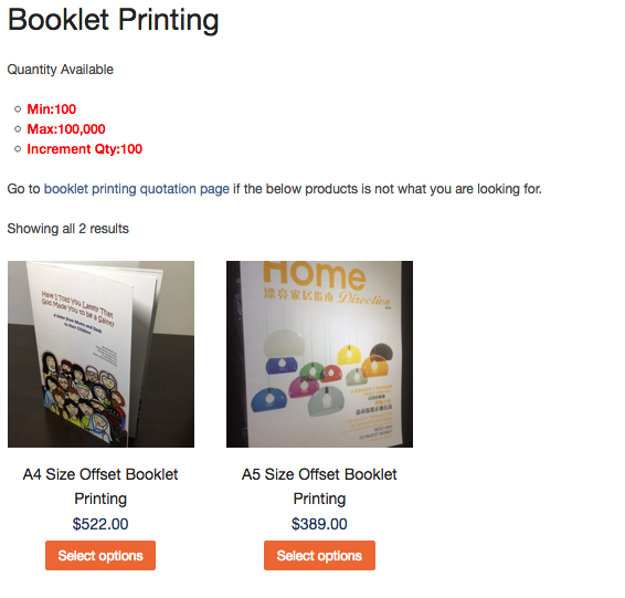 Offset booklet printing price reduced Booklet Printing Promotion