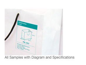 paper bag sample kit Paper Bag Sample Kit Printing Sample with diagram