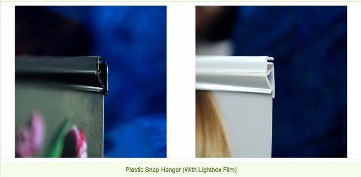 lightbox film Lightbox Film Plasic Hanger with lightbox film