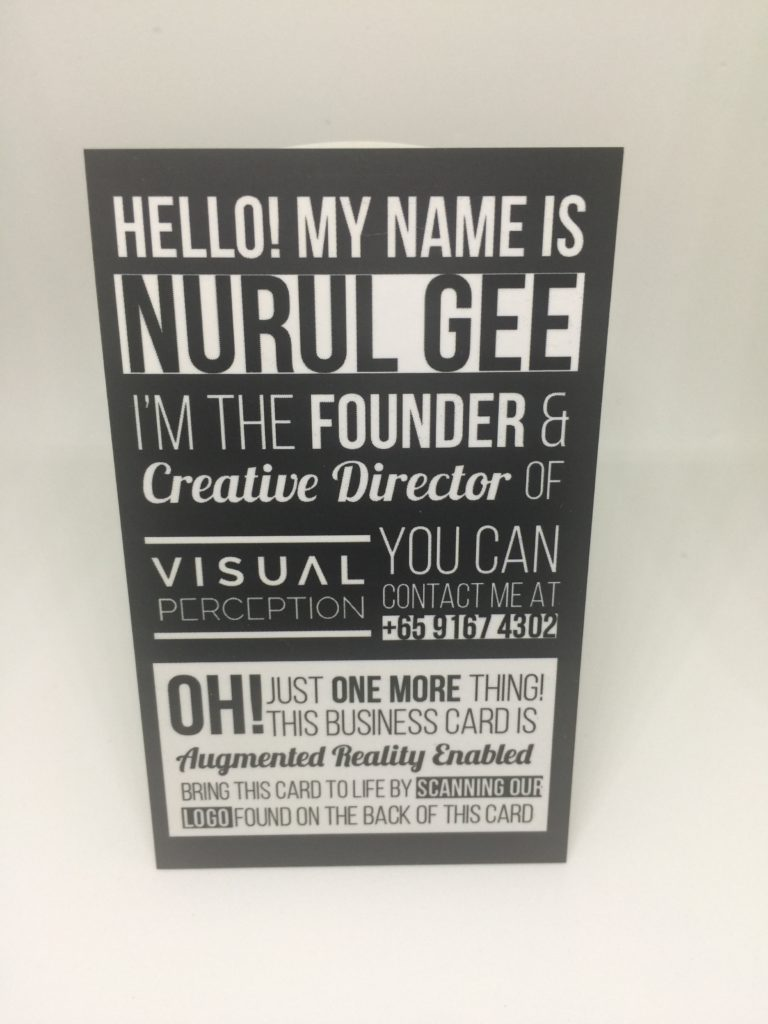 spot uv Spot UV Business Card SPOT uv name card front by Nurul Gee 768x1024