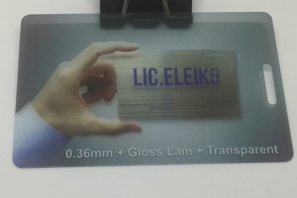 0.36mm plastic card + Gloss lamination + Transparent Plastic Card Quotation 0