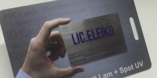 1.0mm plastic card + matt lamination + spot uv