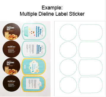 Sticker Quotation Form Multiple Dieline Label Sticker