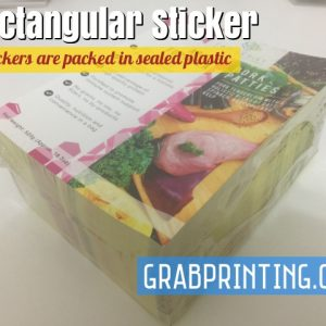 sticker printing Mirrorkote sticker (Most commonly use) Stickers are packed in sealed plastic 300x300
