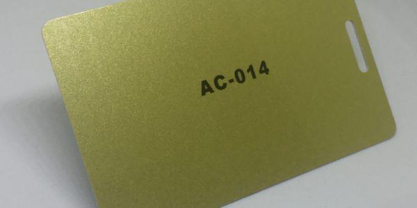 bright gold plastic card