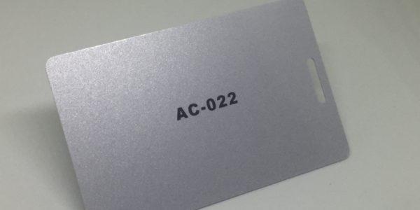 bright silver Plastic Card