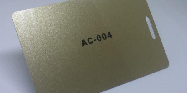 dark gold plastic card