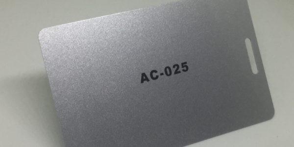 dark silver Plastic Card