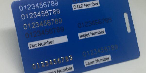 flat number, embossed number, d.o.d number, inkjet number and laser number