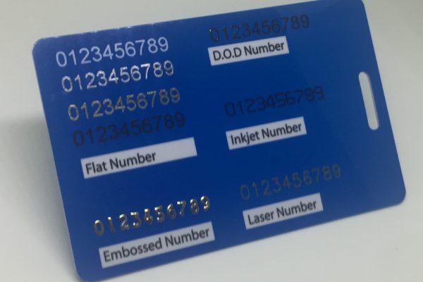 flat number, embossed number, d.o.d number, inkjet number and laser number  Plastic Card Quotation flat number embossed number d