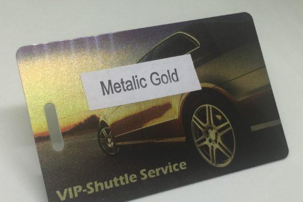 metalic gold Plastic Card Quotation metalic gold 600x400