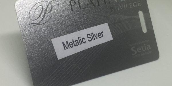 metalic silver