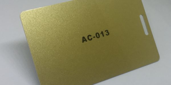 normal gold plastic card
