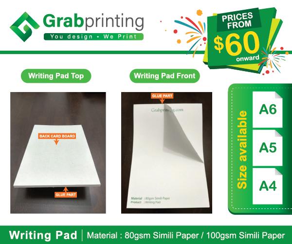 writing pad Writing Pad grabprinting writing pad sample 501px 600px
