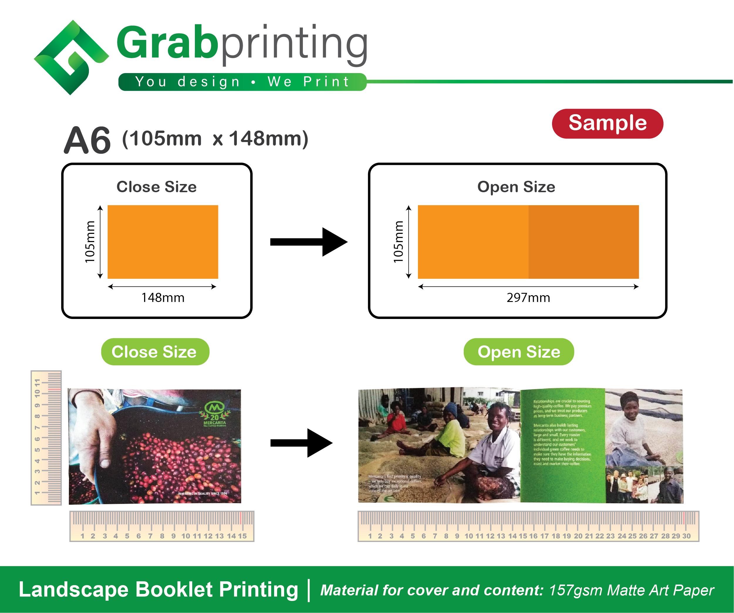 Landscape Booklet Printing Free Delivery Grabprinting Com