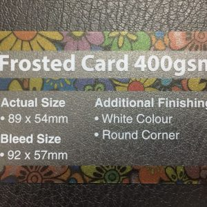 Can you advise me on the material to use? Name card printing Frosted Card 400gsm 300x300