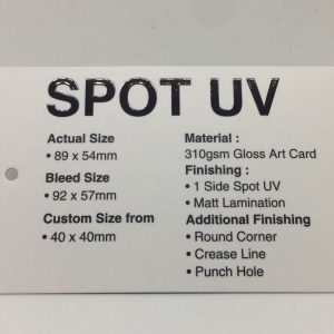 Sticker Quotation Form Spot UV Name Card 300x300