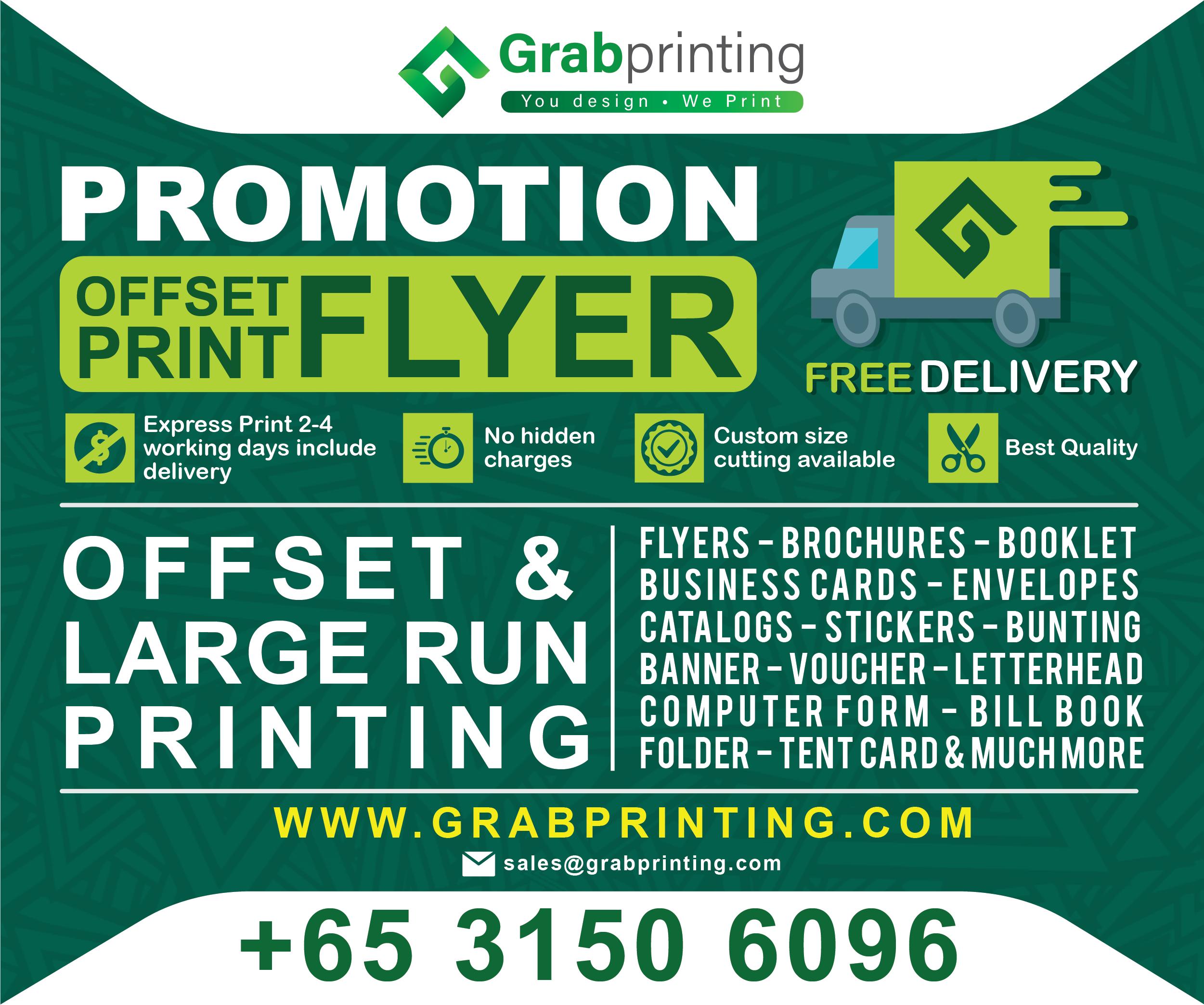 printing Home Grabprinting Offset flyer promo landscape