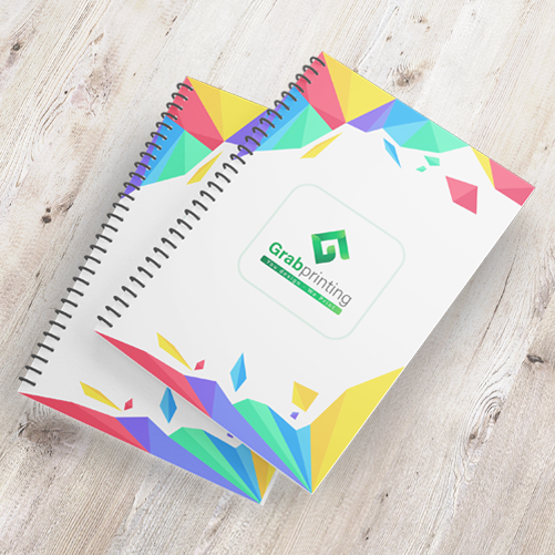 Print Notebook Online | FREE Delivery | Grabprinting.com