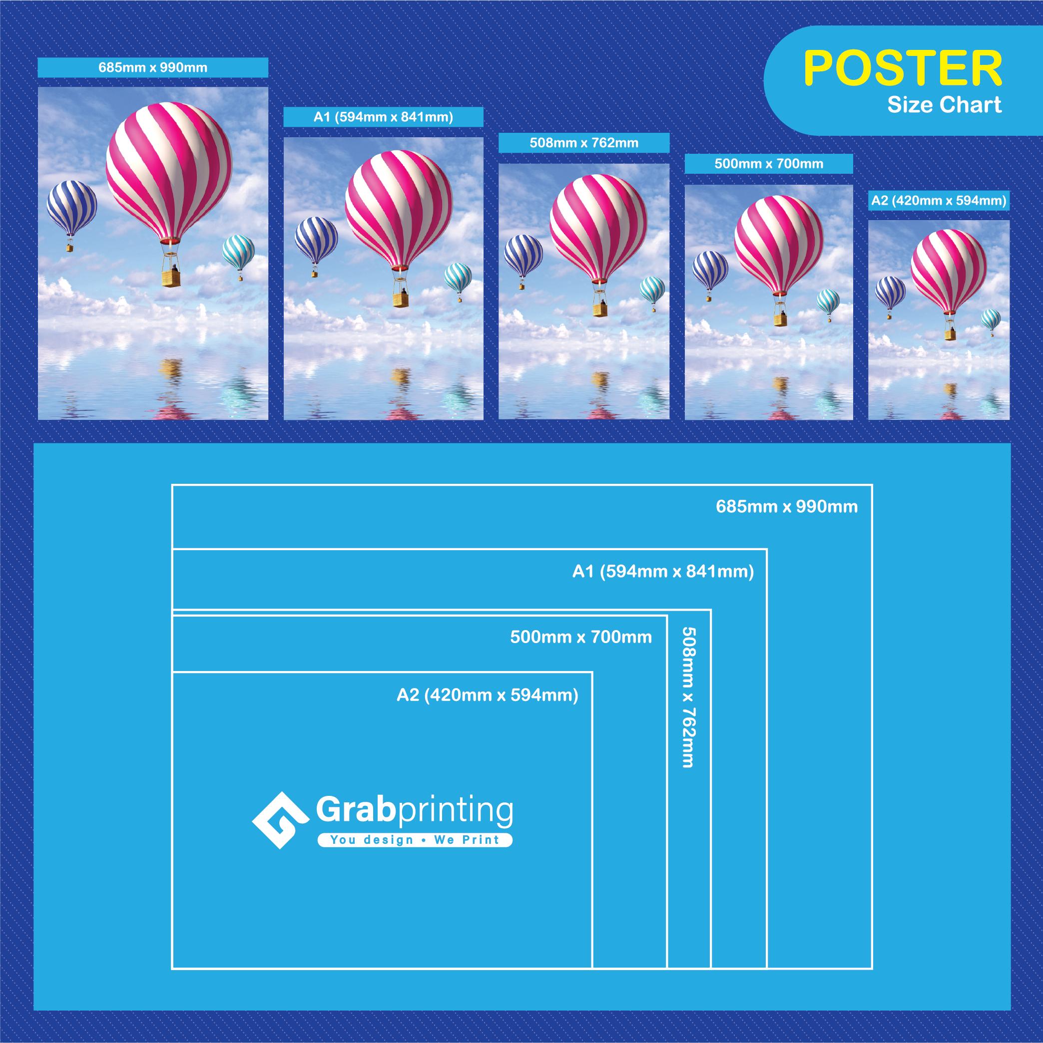 poster printing Poster Poster Printing Size Chart