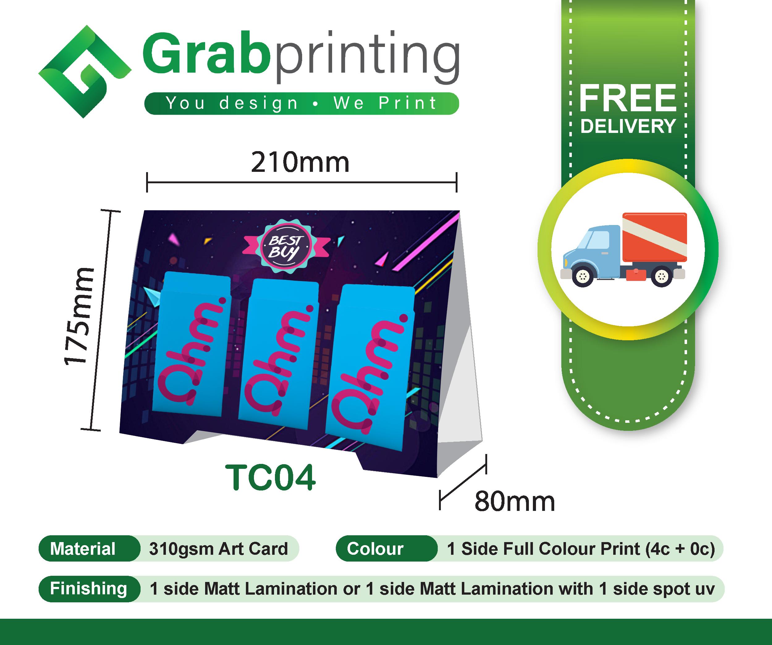 Tent Card Printing Tent Card TC04
