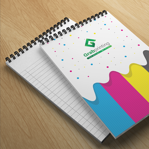 Custom NotePad Printing | Free and fast delivery | Grabprinting.com