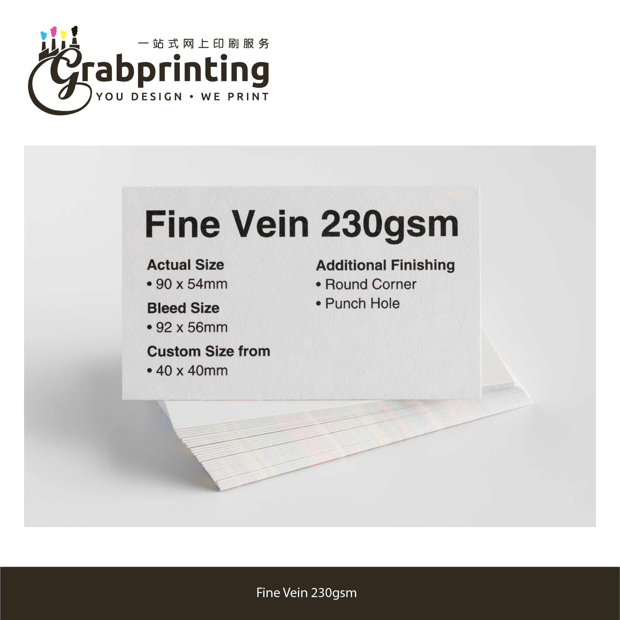 name cards Name Card (23 materials to choose from) grabprinting 36 Fine Vein 230gsm 501px 501px
