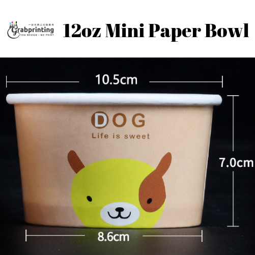 [object object] Mini Paper Bowls Printing 12oz Mini Paper Bowl
