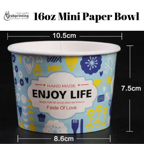 [object object] Mini Paper Bowls Printing 16oz Mini Paper Bowl
