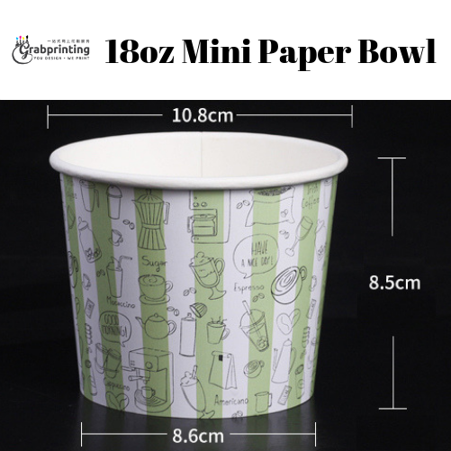 [object object] Mini Paper Bowls Printing 18oz Mini Paper Bowl