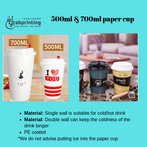 paper cup Paper cup printing 500ml 700ml
