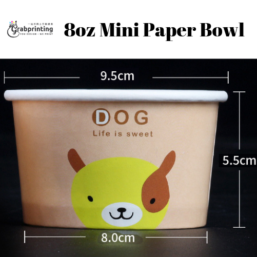 [object object] Mini Paper Bowls Printing 8oz mini paper bowl