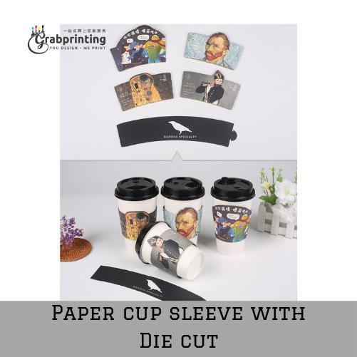 Paper cup sleeve printing Paper cup sleeve with Die cut