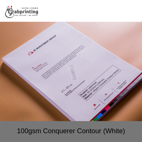Letterhead Printing 100gsm Conquerer Contour White