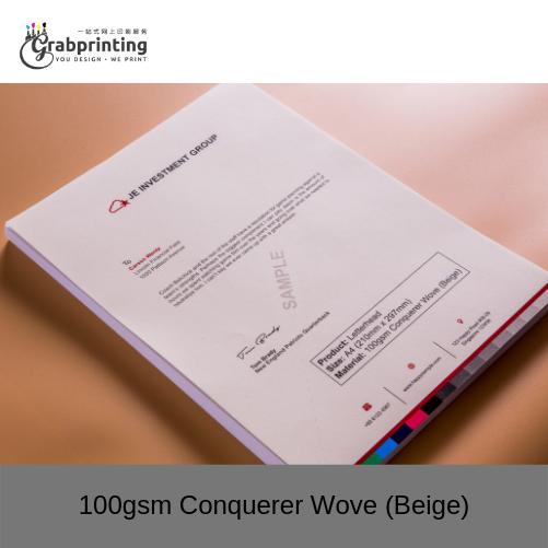 Letterhead Printing 100gsm Conquerer Wove Beige
