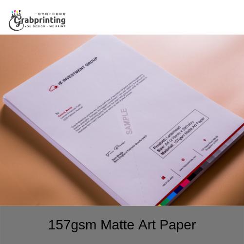 Letterhead Printing 157gsm Matte Art Paper