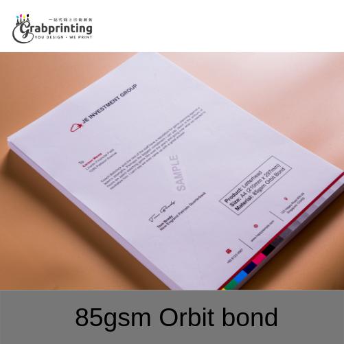 Letterhead Printing 85gsm Orbit bond