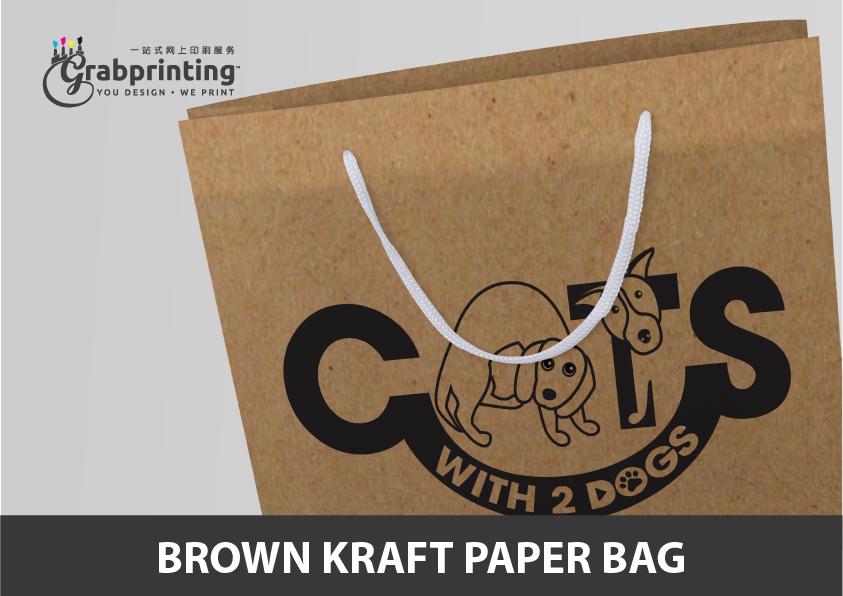 Kraft Paper Bag Printing Brown Kraft Paper Bag Printing Model 4