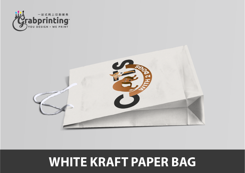 Kraft Paper Bag Printing White Kraft Paper Bag Printing Model 2